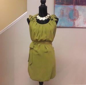 Pinky Dresses - Pinky/ Olive Green/Sleeveles Balloon Bottom/ Dress